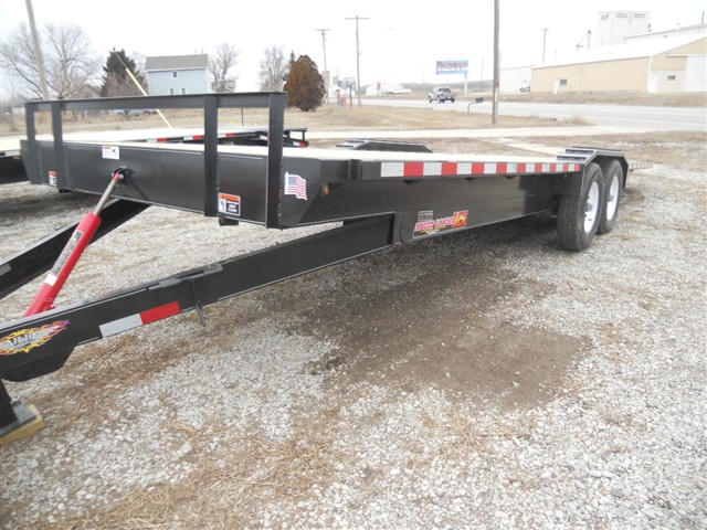 2018 H&H 8 1/2X22 MANUAL TILT FLATBED/ OUTRIGGERS/14000GVWR