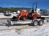 24hp Sub Compact Tractor Cs2410 Tractor Trailer Package