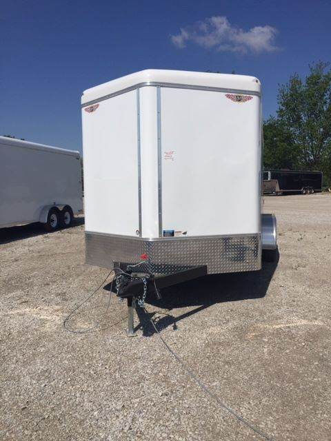 2019 H&H 8X16 V-NOSE CARGO WITH REAR RAMP DOOR