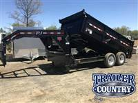 "2017 PJ Dump Trailer Ultra Low 24"" Deck Height w/Lockable Front Toolbox"