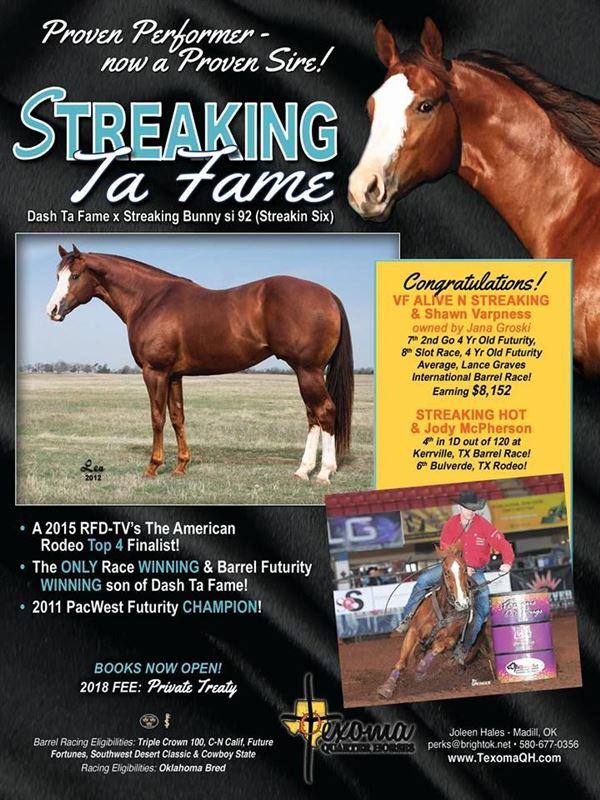 STREAKING TA FAME - Barrel Horse World