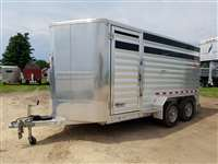 2014 Kiefer Built 16' aluminum stock trailer